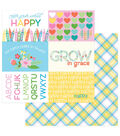Photoplay Paper Mad 4 Plaid Happy 12\u0027\u0027x12\u0027\u0027 Double-Sided Cardstock-Color