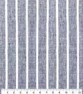 100% Linen Fabric-Black White YD Wide Stripe