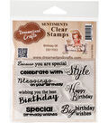 Dreamerland Crafts Sentiments Clear Stamp Set 3\u0027\u0027x4\u0027\u0027-Birthday 06