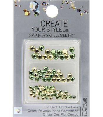Create Your Style Swarovski Flat Back Crystals 90/Pkg-Jonquil/Peridot