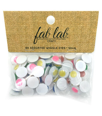 Paste-On Wiggle Eyes 12mm -Assorted Colors