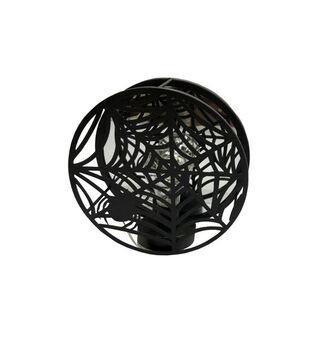 Maker's Halloween LED Spider Web Decor-Black