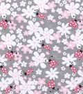 Nursery Cotton Fabric -Lady Bug Floral