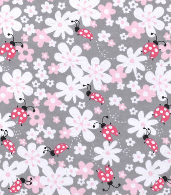 Nursery Cotton Fabric -Lady Bug Floral