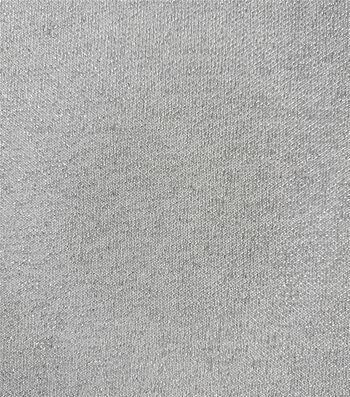 "Holiday Shine Reversible Lurex Knit Fabric 58""-Ivory"