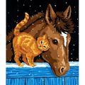 Learn To Paint 9\u0022X12\u0022-Pony And Kitten