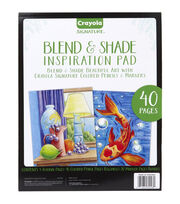 Crayola Signature Blend & Shade Inspiration Pad, , hi-res