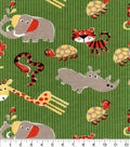 Snuggle Flannel Fabric -Zoo Animal Friends