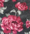 Anti-Pill Fleece Fabric 59\u0022-Regal Wine Floral