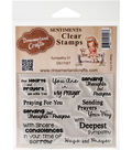 Dreamerland Crafts Sentiments Clear Stamp Set 3\u0027\u0027x4\u0027\u0027-Sympathy 01