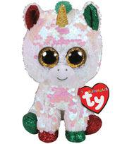 Ty Inc. Christmas Flippables Regular Sequin Stardust Unicorn, , hi-res