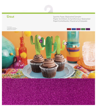 Cricut 10 Pack 12''x12'' Sparkle Paper Samplers-Bejeweled