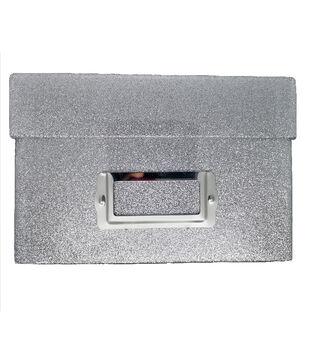 Photo Storage Box-Silver Glitter