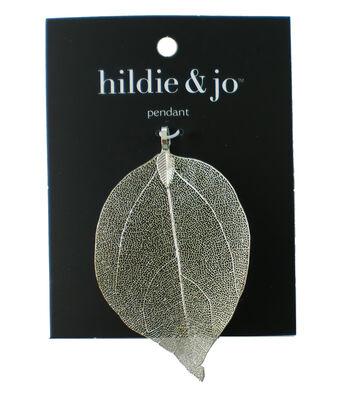 hildie & jo Brass Leaf Pendant-Silver