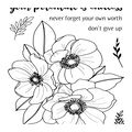 Uniquely Creative 7 pk Photopolymer Clear Stamps-Endless Potential Bloom