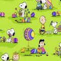 Holiday Inspirations Fabric-Peanuts Egg Hunt 2