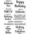 Kaisercraft Sentiments Background Stamp 4\u0022X6\u0022-Birthday