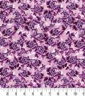 Premium Quilt Cotton Fabric 43\u0022-Tossed Florals Purple