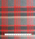 Perfectly Plaid Rayon Fabric 53\u0022-Gray & Orange