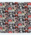 DC Comics Wonder Woman Cotton Fabric 44\u0022-Black & White Blocks