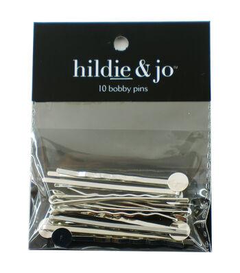 Bobby Pin Post Silver 10 Pc