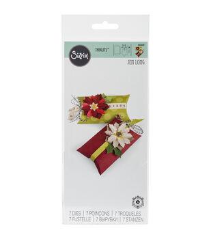 Sizzix Thinlits Dies-Box, Pillow & Poinsettias