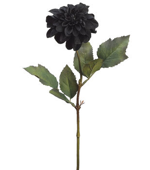 "Bloom Room 25"" Dahlia Stem-Black"