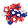 Favorite Findings Buttons-Patriotic Stars 11/pkg