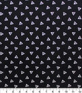 Harry Potter Knit Fabric-Deathly Hallows Black