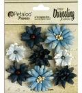 Darjeeling Teastained Mini Mix Flowers .75\u0022 To 1.5\u0022 8/Pkg