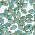 Matubo Gemduo Czech Glass Beads-Picasso Blue