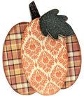 Foundations Decor Interchangeable \u0022O\u0022 Wood Shape-November-Pumpkin