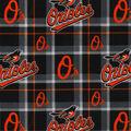 Baltimore Orioles Flannel Fabric-Plaid