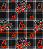 "Baltimore Orioles Flannel Fabric 42""-Plaid, , hi-res"