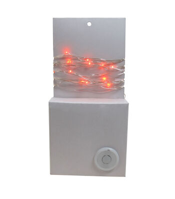 Maker's Halloween 50 ct Orange Rice Lights with Silver Wire