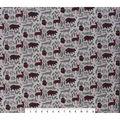 Christmas Cotton Fabric-Woodland Animals