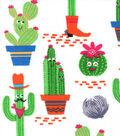 Snuggle Flannel Fabric -Texas Cacti
