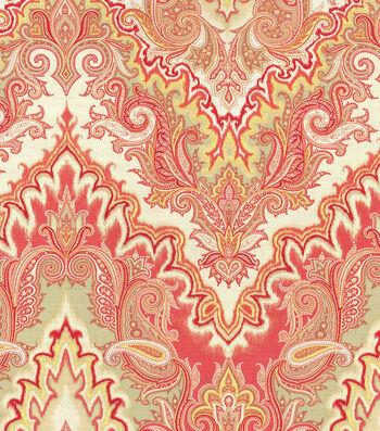 """Waverly Lightweight Decor Fabric 54""""-Paisley Verse/Crimson"""