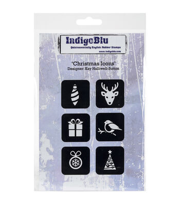 IndigoBlu Cling Mounted Stamp-Christmas Icons
