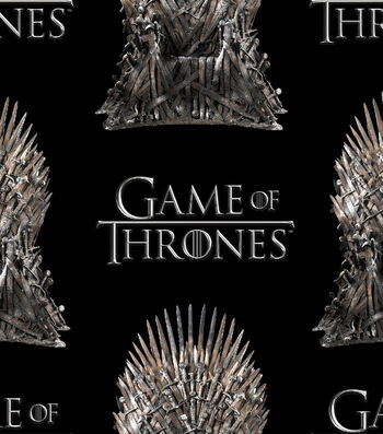 "Game of Thrones Cotton Fabric 43""-The Iron Throne"