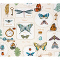 Super Snuggle Flannel Fabric-Botanical Butterfly