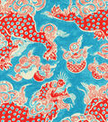 P/K Lifestyles Lightweight Decor Fabric-Dunmore Dragon/Persimmon