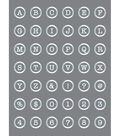 DecoArt Americana Mixed Media 6\u0027\u0027x8\u0027\u0027 Stencil-Button Alphabet