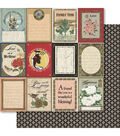 Ruby Rock-It Oriental Chic Phraseology Double-Sided Cardstock