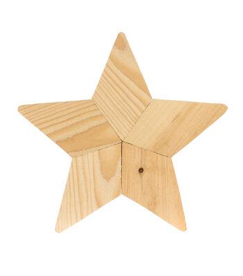Fab Lab Rustic Small Wood Star