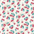 Premium Prints Cotton Fabric-Cherries on Starbursts