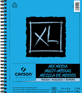 Canson XL 9''x12'' 50 Sheets Spiral Mix Media Rough Pad