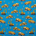 Super Snuggle Flannel Fabric-Construction on Blue