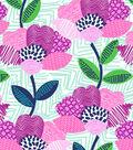 No Sew Fleece Throw 72\u0027\u0027-Pattern Trap Floral