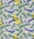 Anti-Pill Plush Fleece Fabric-Watercolor Dragonfly